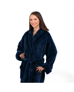 Tahoe Micro Fleece Shawl Collar Robe Navy