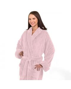 Tahoe Micro Fleece Shawl Collar Robe Pink