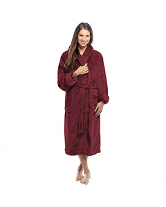 "Tahoe micro fleece shawl collar robe, 15 oz, 48"""