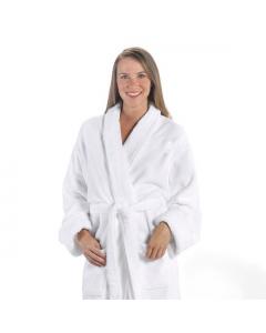 Tahoe Micro Fleece Shawl Collar Robe White