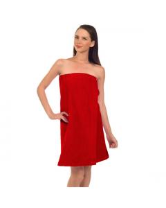 """Womens Terry Velour Spa Wrap, 12 oz, 29""""-Red"""